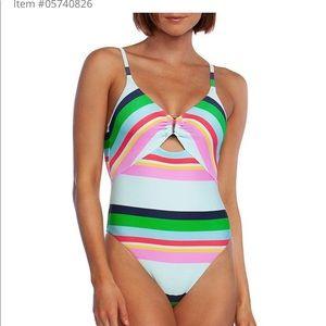 Trina Turk NWT deco striped one piece swimsuit